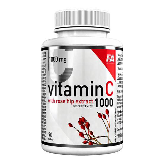 Fitness Authority Vitamin C with rose hip extract 90tbl
