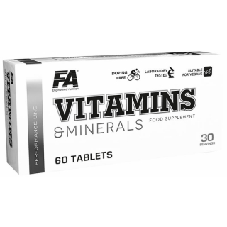 Fitness Authority Vitamins and Minerals 60tbl